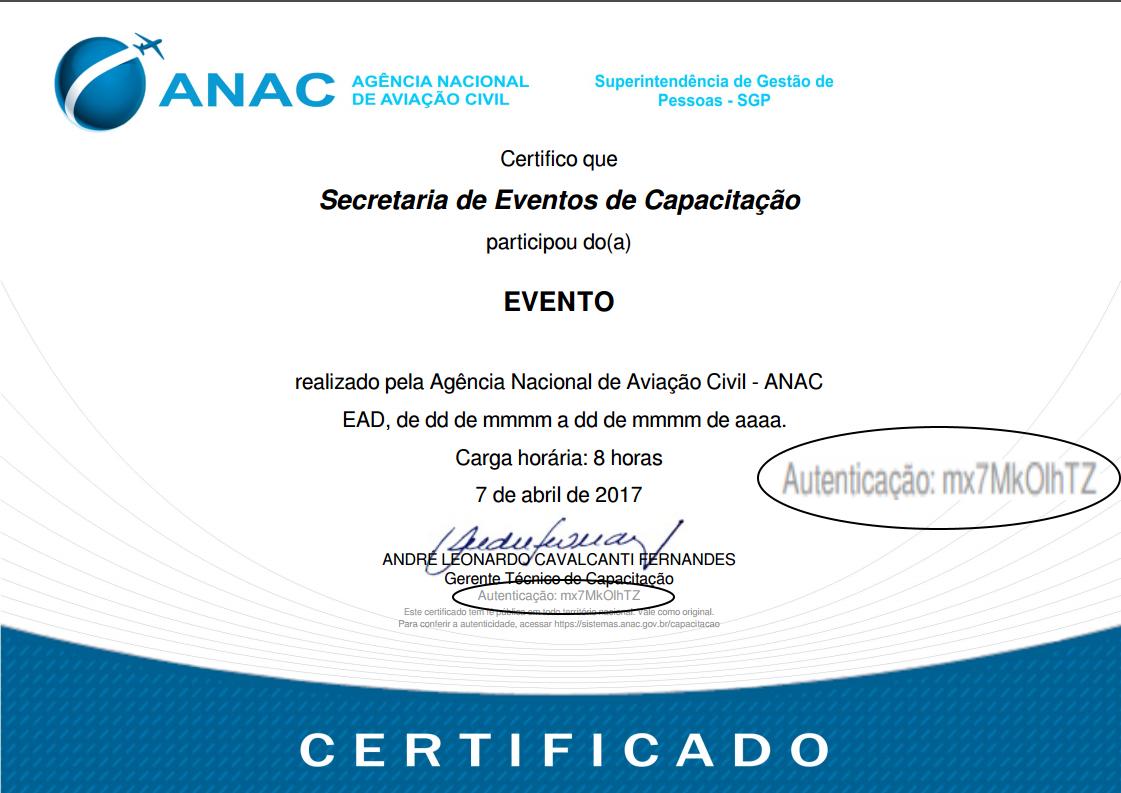 a imagem abaixo ilustra um modelo de certificado e o local onde o cdigo de autenticao do certificado pode ser encontrado
